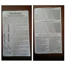 Accu Measure Body Fat Chart Accumeasure 3000 Bodyfat Skin Fold Calipers With Test Guide