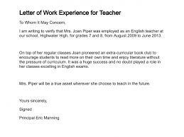 Sample Experience Certificate Format For School Teacher Teachers