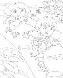 Coloriage Gratuit Dora Et Diego Ancenscp