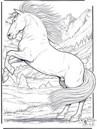 Small Picture Printable adult coloring pages of realistic Horse Animal