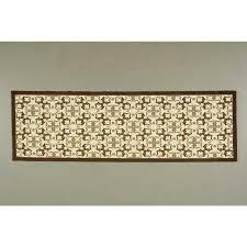 nourison enhance brown indoor area rug common 3 x 8 actual 2 5