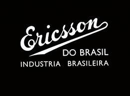 ericsson logo white. ericsson do brasil, logotype, 1955 logo white t