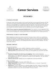 Resume Internship Template Sample Professional Resume
