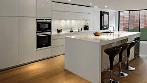 Image Of White High Gloss Kitchen Cabinets Kitchen Makeovers
