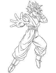 Small Picture New Dragon Ball Z Goku Coloring Pages 67 With Additional Coloring