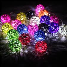 How To Make String Ball Decorations Impressive Hot 32 LED Battery Operated Diwali Decor Rattan Ball Shape String