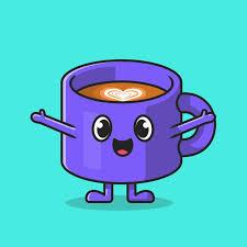 Coffee mug cup tea cafe drink espresso caffeine cappuccino breakfast. Free Vector Cute Happy Coffee Cup Cartoon Icon Illustration