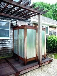 showers outdoor shower plans simple ideas elegant backyard easy outdoor shower plans