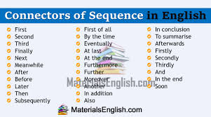 Connectors Materials For Learning English