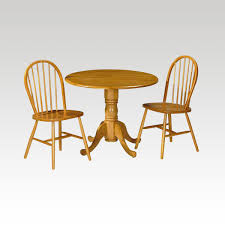 dundee small round drop leaf table 2 chair set