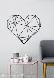 geometric heart wall decals home decor removable vinyl wall stickers geometric heart wall art bedroom australian made on wall art heart designs with 17 best images about mural on pinterest hummingbirds polaroid and