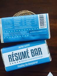 the chocolate bar resumé is still a surefire way of getting    renata