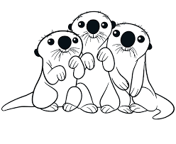 Lontra Da Colorare Disegno Di La Lontra Da Colorare Migliori