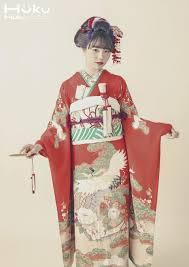 アンティーク花嫁振袖蒼松 前髪アリの新日本髪で 縁 Enishi