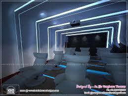 Home Theater And Spillover Space Interiors Home Kerala Plans Home - Kerala interior design photos house