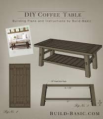 build a diy coffee table build basic