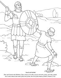Sunday School Coloring Pages David And Goliath Friendship S