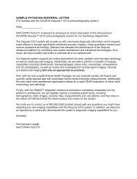 Referral Letters Sample Sample Physician Referral Letter