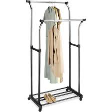 Mainstays Coat Rack Mainstays Black and Chrome Double Adjustable Garment Rack Walmart 91