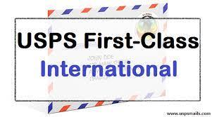 usps first cl mail international