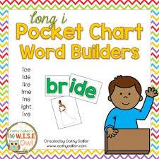 Pocket Chart Word Builders Set Long I