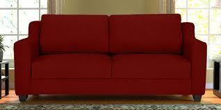 Sofa Foam Density Chart Suedine 3 Seater Sofa In Red Colour By Vittoria