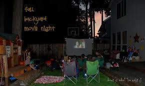 DIY Family Flicks How To Make Your Own Backyard Movie TheaterMovie Backyard