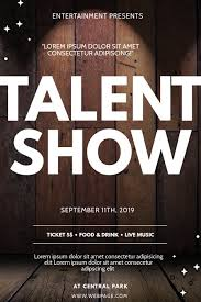Talent Show Flyer Design Talent Show Flyer Design Template Postermywall