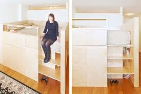Here's a Loft Bed That Doubles as a Room Divider
