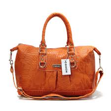Coach Embossed Medium Orange Satchels DDW