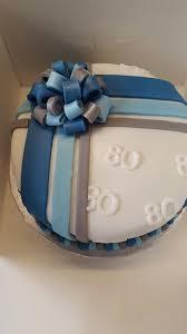 men s 80th birthday cake