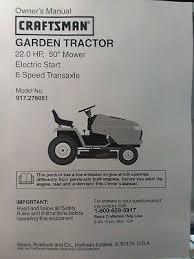 sears craftsman 22 50 6sp gt5000 garden