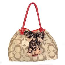 Best Style Coach East West Scarf Large Khaki Totes Bmp Outlet kW2wg