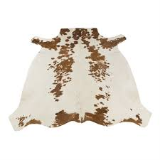 authentic leather international jojola brown and white one of a kind african cowhide area rug lowe s canada