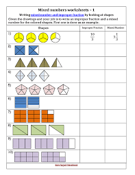 Drawing Mixed Numbers Worksheet - ClipartXtras
