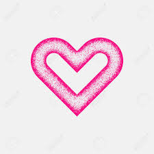 Half Heart Template Magenta Abstract Heart Sign Badge Valentines Day Blank Button