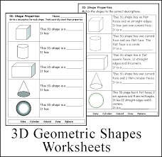 Free Printable Shapes Worksheets Identifying 3d Worksheet ...