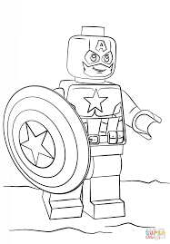 Lego Captain America Coloring Page From