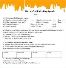 Weekly Staff Meeting Agenda Template Weekly Staff Meeting Agenda