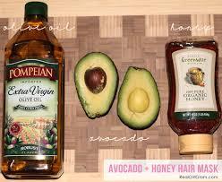 beauty diy avocado honey hair mask
