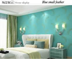 peacock blue feathers wallpaper embroidery 3d diamond for bedroom