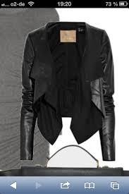 faux leather spliced waterfall jacket david jones