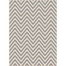 5 x 7 medium chevron gray indoor outdoor rug garden city rc willey furniture