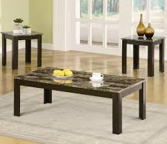 Table Sets For Living Room Maintaining Beauty Of Faux Marble Coffee Table