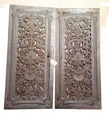 pair antique french cast iron doors