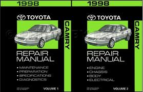 1998 toyota camry wiring diagram manual original 1998 toyota camry repair shop manual 2 volume set original 179 00