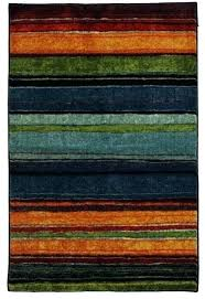 mohawk rugs 8x10 rainbow rug area rectangle blue gray orange new wave home
