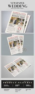 Wedding Invitation Newspaper Template Newspaper Wedding Invitation Weddings Cards Invites In