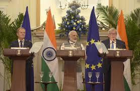 India European Union To Fight Terror Resume Talks On Free Trade