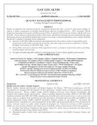 qa manager resume qa resume template